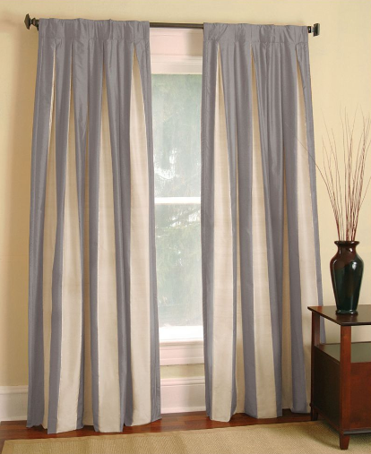 Restoration Hardware Silk Taffeta Pavilion Stripe Drapes
