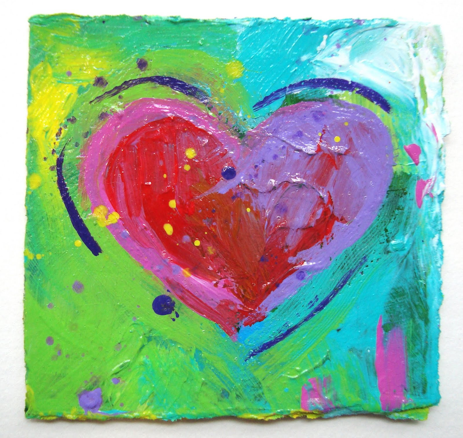 Images Of Finger Painted Hearts