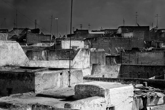 Tejados en la ciudad de Fez en Marruecos