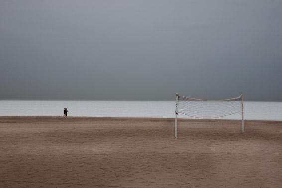 llegada del otonyo a Valencia. Playa de la Malvarrosa