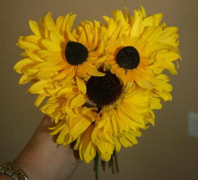 Sunflower flower arrangement in shape of puppy