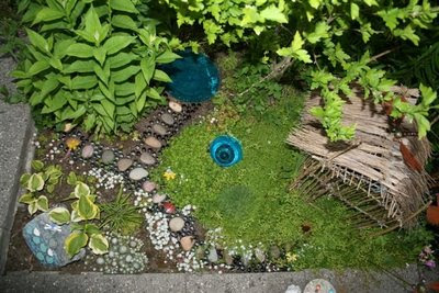 Fairy house from above