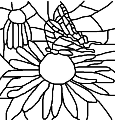 swallowtail butterfly image outline - Fill The Colour In Pictures