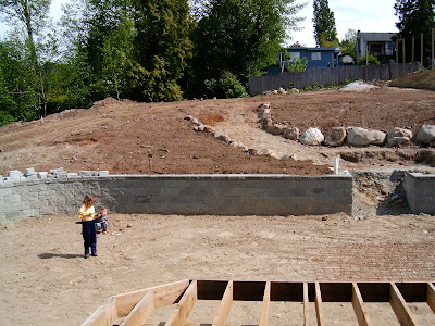 Yard under construction