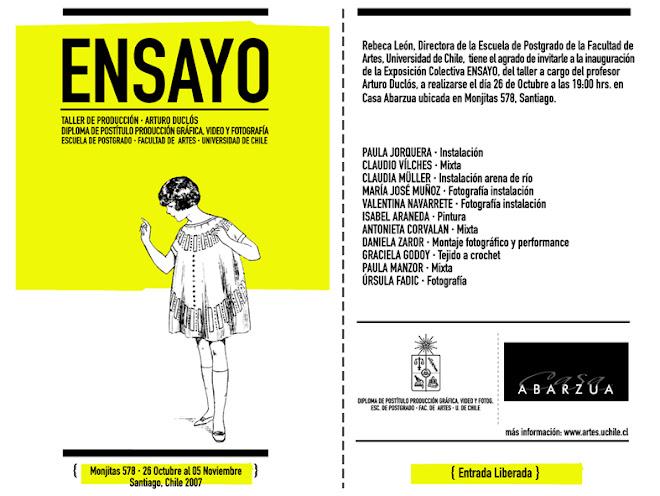 Invitacion Ensayo