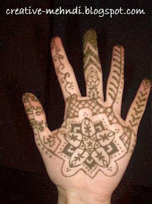 Indian mehndi pattern design