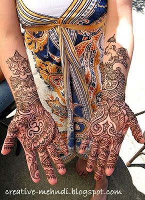 mehndi patterns Arabic for hand