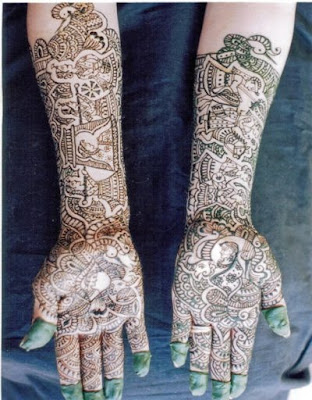 Pakistani bridal mehndi patterns