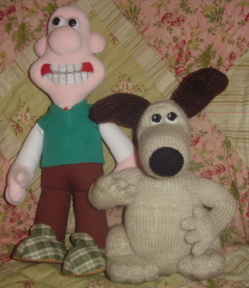Crafting with dogs: Wallace and Grommit