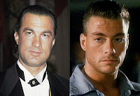 Steven Seagal and Jean Claude Van Damme