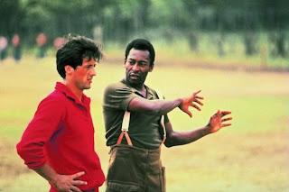 Registro do Pelé e Sylvester Stallone juntos