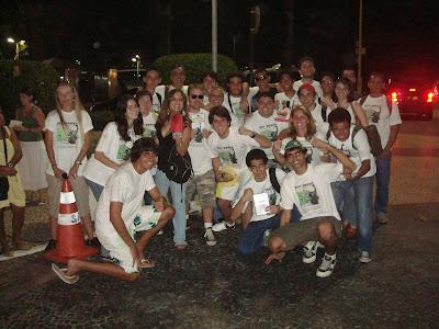 Sly Squad após receber o Sylvester Stallone