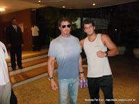 Marcinho Brandão com Sylvester Stallone