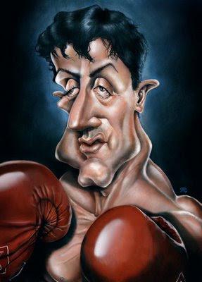 Caricatura do Sylvester Stallone