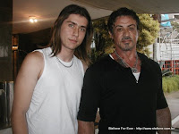 Henrique Gabriel com Sylvester Stallone