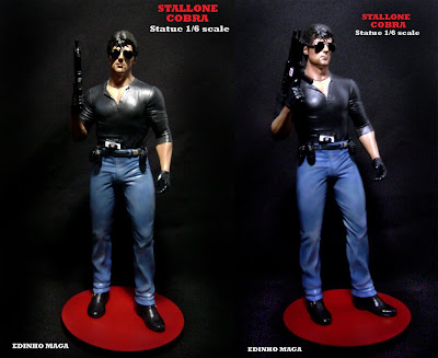 Escultura do Stallone Cobra by Edinho Maga