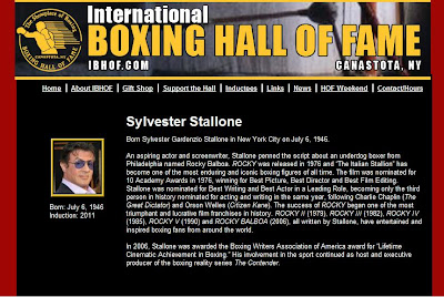 Sylvester Stallone no hall da Fama do Boxe