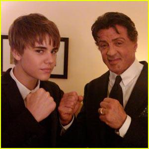 Sylvester Stallone e Justin Bieber
