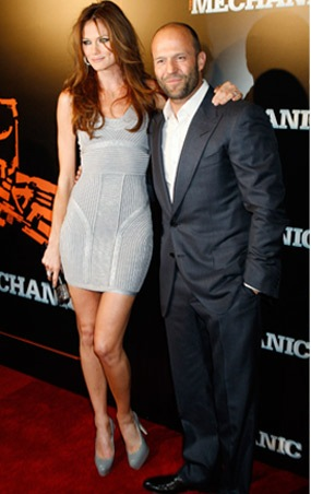 Jason Statham e Mini Anden na Premier de The Mechanic