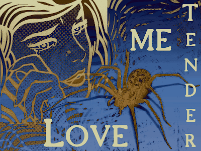 woman spider blue love