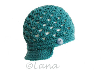 Newborn newsboy cap crochet pattern | Money Talks