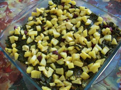 Peynirli patatesli fırında ıspanak tarifi(resimli anlatım)