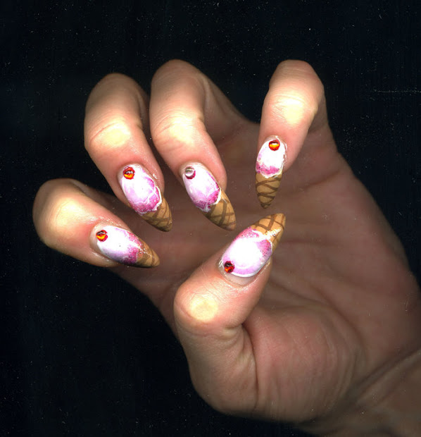 make with ice cream nails