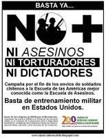 Firma por: No mas militares chilenos a la Escuela de las Amricas
