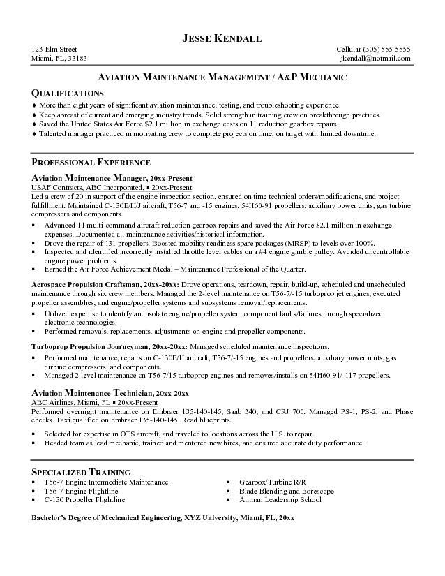 Aircraft Mechanic scientific document services
