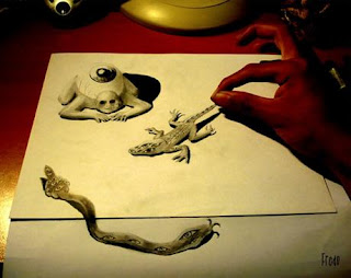 c1e4d amazing drawings in 3d 02 Lukisan Semacam Real