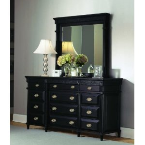 New Black Sleigh Bed Master Bedroom Furniture Set Queen Bed Dresser Mirror 2 Night Stands