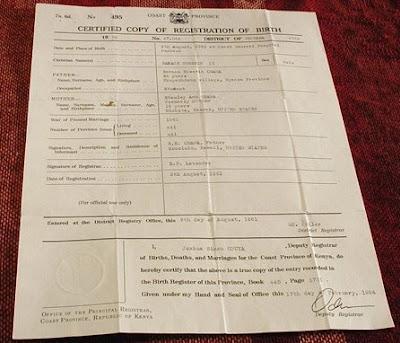 2 Political Junkies: Obama fake Kenyan birth certificate based on ...