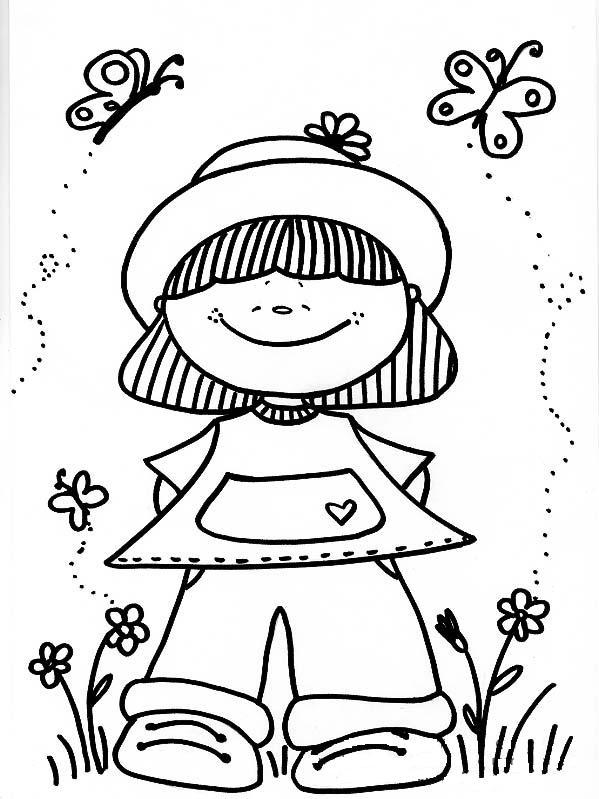 Niños y niñas para colorear - Imagui