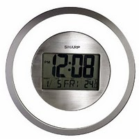 sharp wall clock. sharp spc355 atomic digital wall clocks (silver) clock i