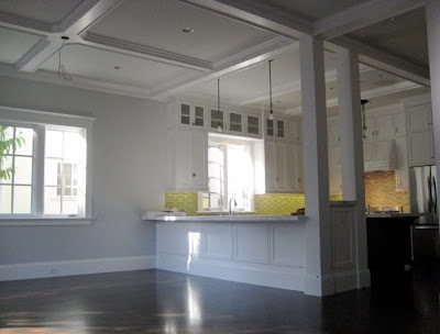 Tar paper crane a remodeling blog spectacular kitchen for Box beam ceiling