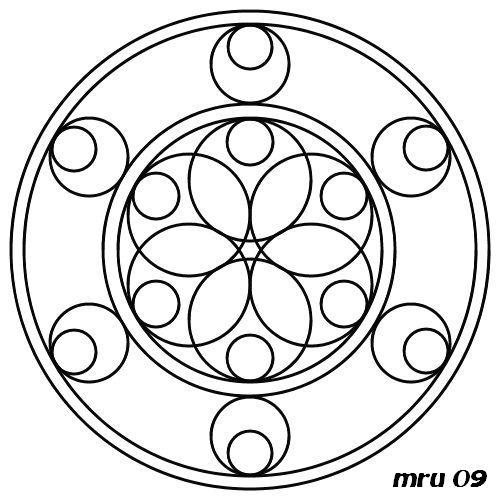 Mandalas - MRU - : MANDALA PARA PINTAR Y COLOREAR (fácil y difícil)