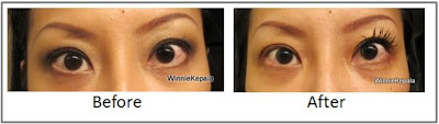 Before and After Mircoz Mascara Lash Extender