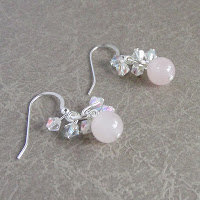 Rose Quartz Earrings by MagsBeadsCreation