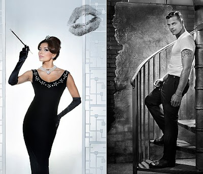 Ricky Martin and Eva Longoria Parker Pay Tribute, Old Hollywood Style
