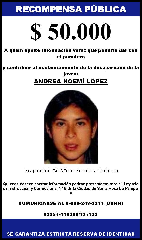 Buscamos a ANDREA LOPEZ