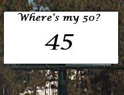 Where's My 50?