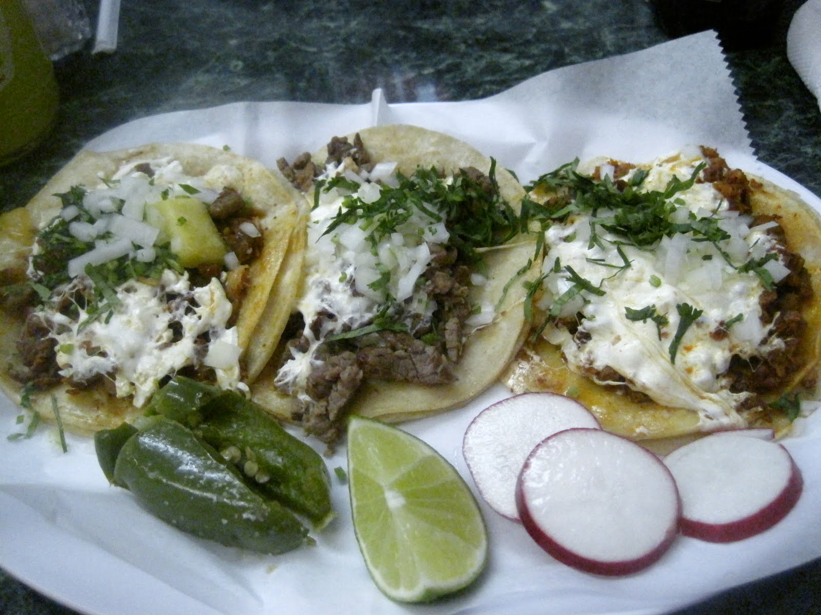 mexican tacos with white cheese