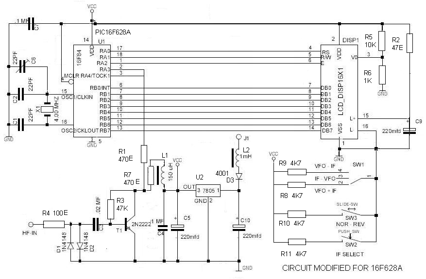 Radio Shack Frequency Counter : Pic microcontroller programming low cost multfunctional