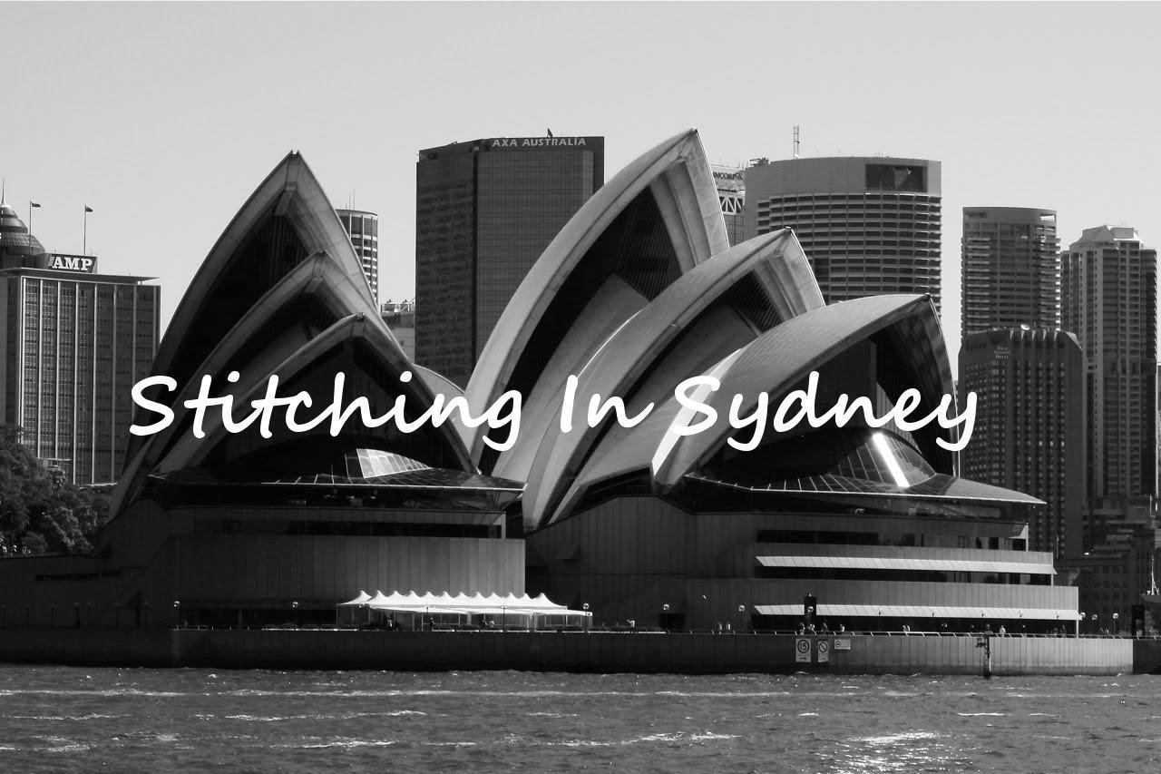 Stitching in Sydney!