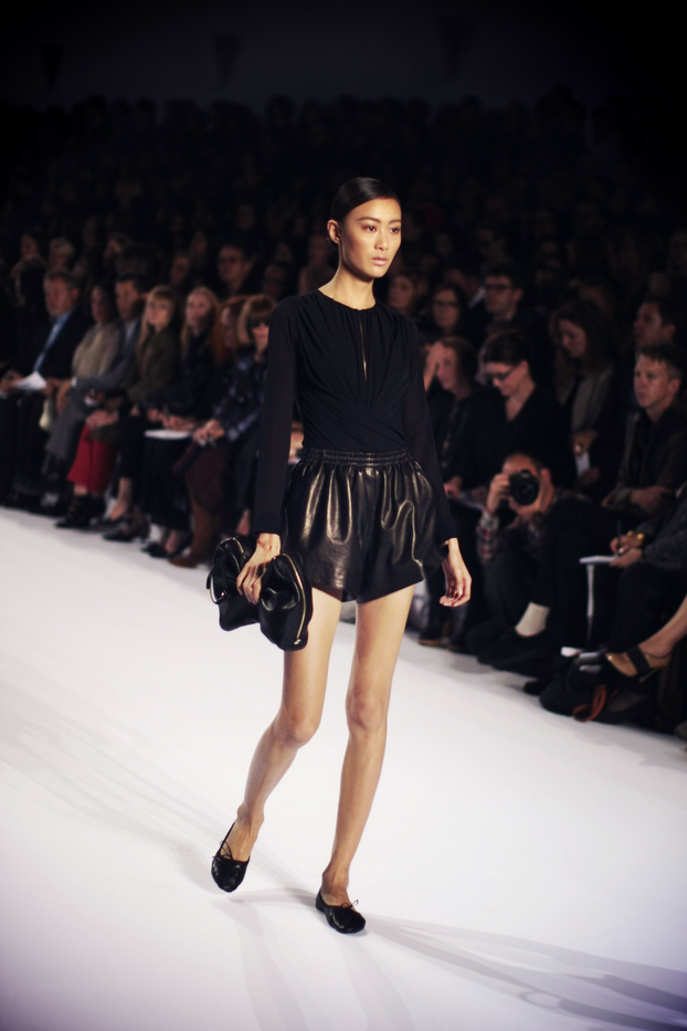Yet Black Leather Shorts And Long, Crisp White Dresses And Coats Were