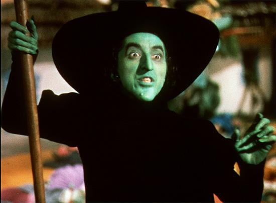 Wicked Witch Of The West Flying On Her Broom Five-O-Rama: Memorable...