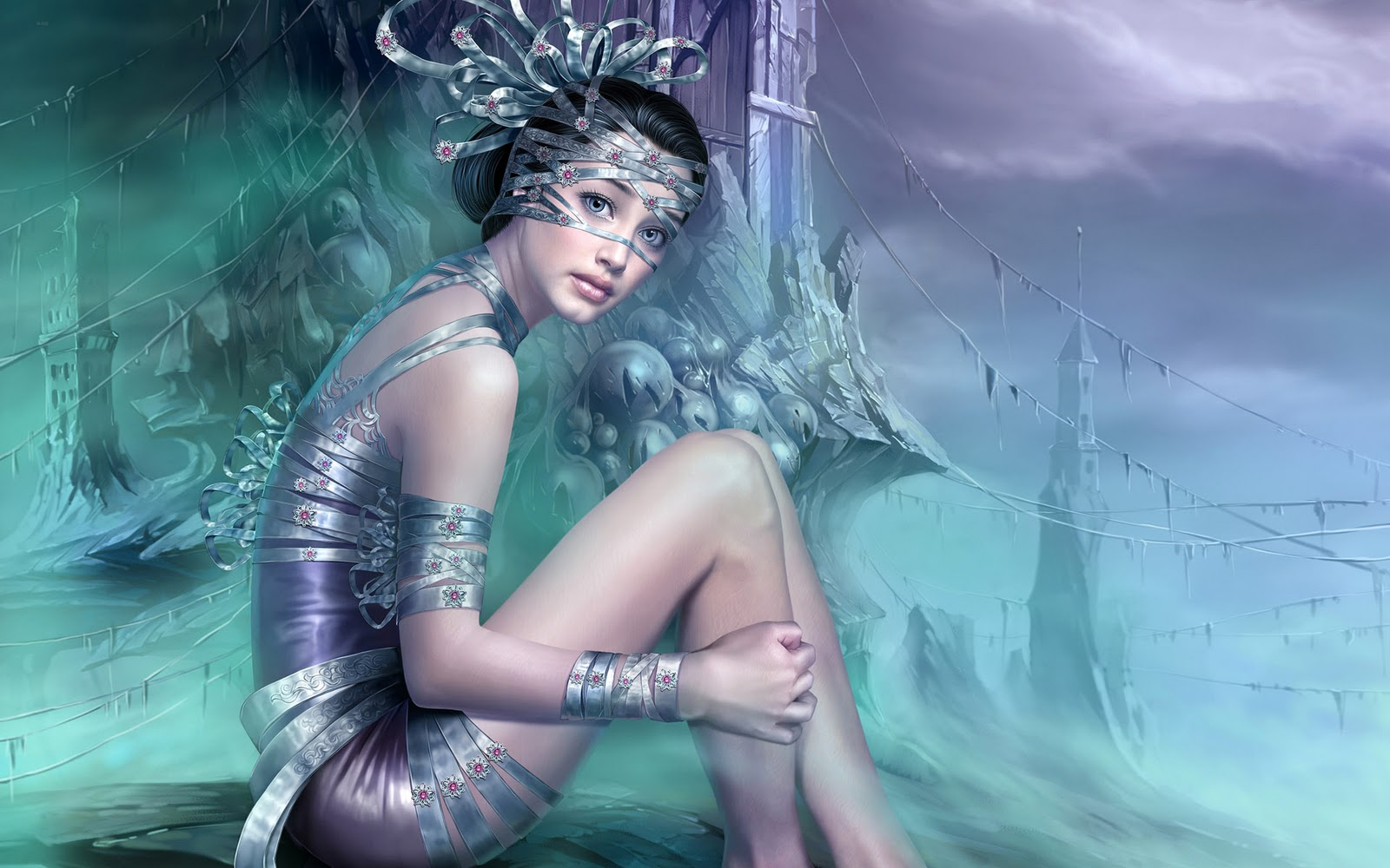 Amazing cg art girls wallpapers - Beautiful girl screensaver ...