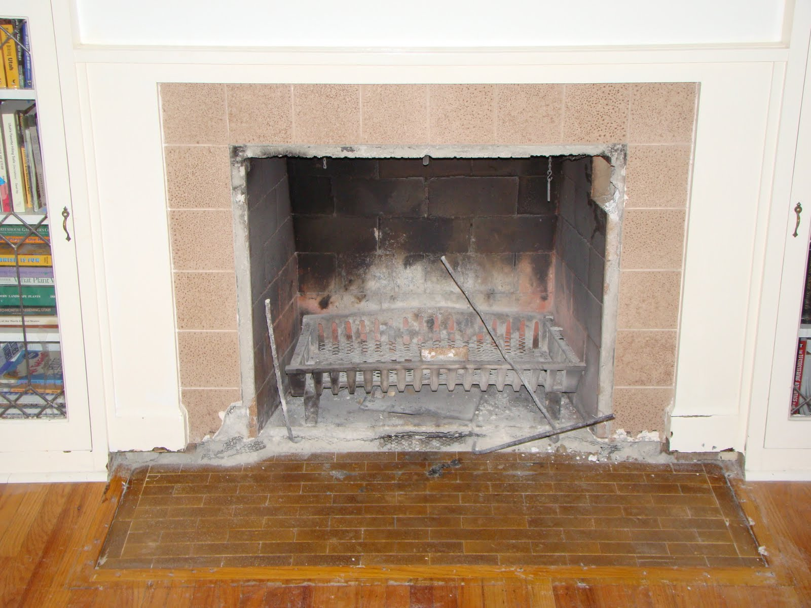 married with bikes i do declare the fireplace restoration complete
