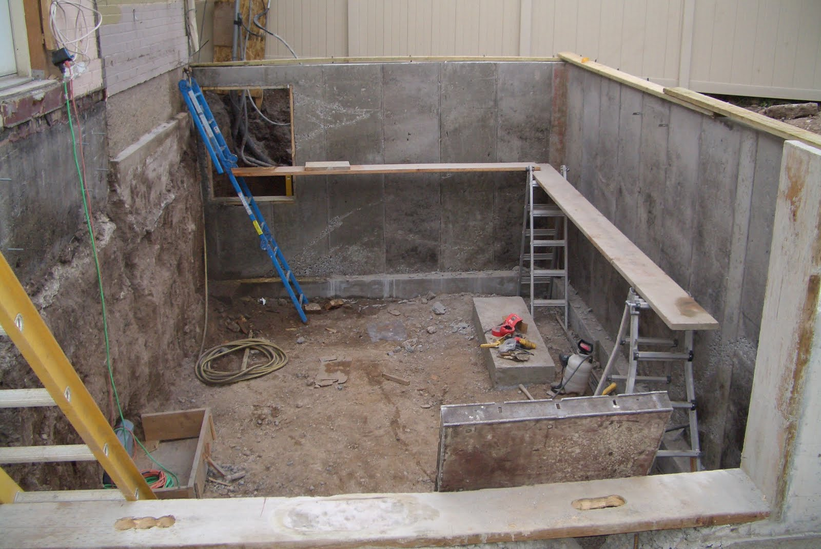 The Foundation Walls Of The New Basement Room Are Poured