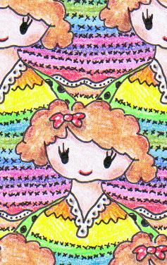 Pige tegnet af Junette, Hverdagsmønstre